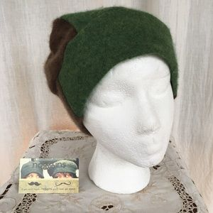Upcycled handmade repurposed cashmere sweaters hat
